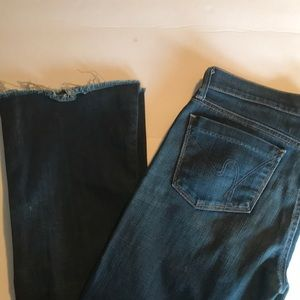 Citizens of Humanity flare raw hem jeans size 28